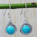 Turquoise Gemstone 925 Sterling Silver Unique Jewelry Earring SJWE-25