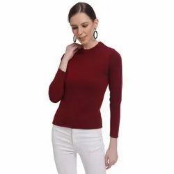 DRESS CLOSET MAROON Turtleneck Sweater