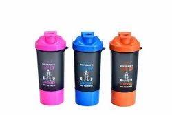 Flip Top Cap Plastic Gym Shaker Bottle, 900 Ml