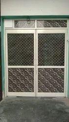 Double door aluminum