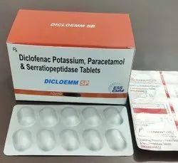 Diclofenac Potassium 50MG+Paracetamol 325 MG + Serratiopeptidase 10MG Tablet