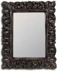 Wooden Square Mirror, For Home, Size: Large