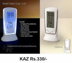 Backlit Table Clock