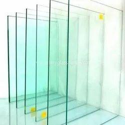 Transparent 12 Mm Clear Toughened Glass, Shape: Flat