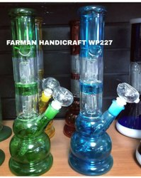 Glass Double Percolator Smoking Water Pipe