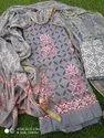 Applique Work Dress Material With Dupatta