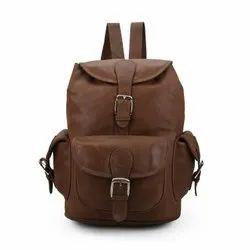 Jhanji Exports Brown Mens Leather Backpacks