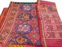 Handloom Pure Silk Party Wear Semi Patola Saree, Hand Wash, 5.5m (with Blouse Piece)