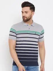 Harbor N Bay Men's Grey Striped T Shirts