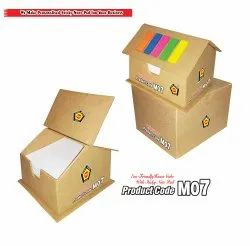 Music 555 Paper M 07 Eco Friendly House Cube With Sticky Note Pad, Size: 115 Mm X 120 Mm
