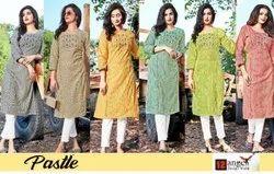 Designer Cotton Casual Wear Kurti, Wash Care: Dry Clean
