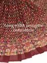Long Width Georgette Embroidered Fabric