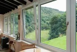 White Casement Residential UPVC Hinged Window, Glass Thickness: 19 Mm