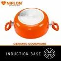 Nirlon Non Stick Induction Based Ceramic Casserole with Glass Lid