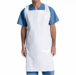Non Woven White Disposable Patients Apron, For Hospitals, Size: Free Size