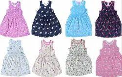 Multicolor Girl Kids Cotton Frock
