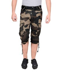 Polyester Super Poly Army Printed Sports Capris