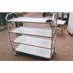 Stainless Steel Four Layer Kitchen Trolley
