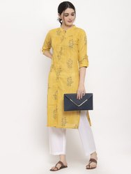 Women Printed Straight Cotton Kurta