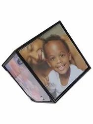 Plastic Rotating Cube Photo Frame, Size: 6 Inch