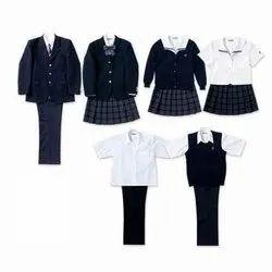Cotton White School Uniform For Boys And Girls