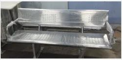 Stainless Steel 4 Seater Bench With Two Arms & Backrest