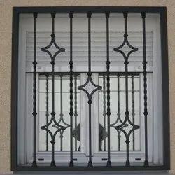 Powder Coated Iron Window Grills, Rectangular
