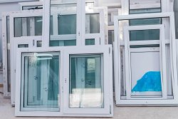 White Arch UPVC Wooden Window Frames