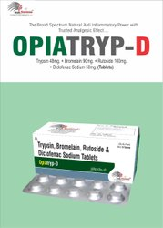 Trypsin 48mg Bromelain 90mg Rutoside 100mg Diclofenac Sodium 50mg (Tablets)