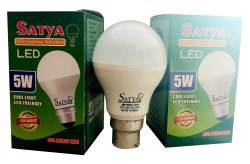 Satya Ceramic 5 Watt LED Bulb, Base Type: B22, 50 Degree C