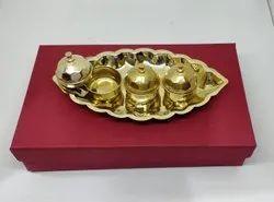 GOLD PLATED HALDI KUMKUM BOX