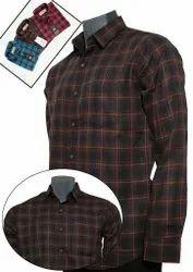 Urban Elements Collar Neck Mens Cotton Check Shirt, Handwash