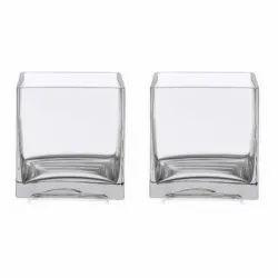 Flora Glass Vase, Shape: Square
