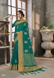Fancy Designer Chit Pallu Saree