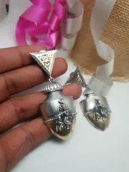 Silver Designer Ladies Earrings