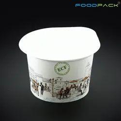 食品包白色500毫升液体外卖集装箱,活动和派对用品