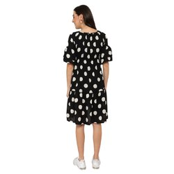 Black And White Polka Dot Maternity Maxi Dress