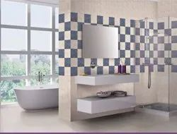 Bathroom Glossy Ceramic Tile, Size: 600 mm x 600 mm, Thickness: 5-10 mm
