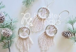 Decorative Macrame Christmas Ornament