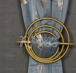 Golden Metal Curtain Tieback