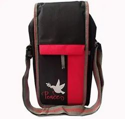 Black,Red Polyester Printed Sling Bag, Size: 12x8x4 Inch