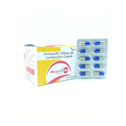 Amoxicillin Trihydrate 500 Mg + 1.66 Millions Lactic Acid Bacillus