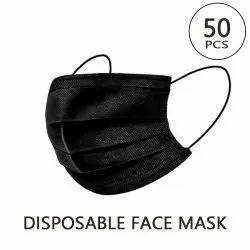 带有弹性带的一次性Sparx黑色三层手术面罩