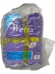 Wetex Adult Pull Up Pants Diapers, Size: Medium
