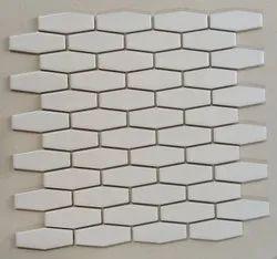Novahex White Glossy Matt Mosaic Tiles ( Porcelain Tiles), Thickness: 6 - 8 Mm, Size/dimension: Small