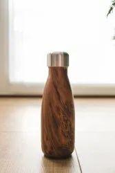 Wood Finish Water Bottle