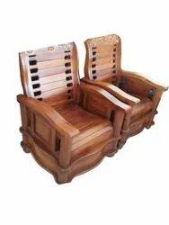 Khan Traders Brown Home Wooden Sofa Chair