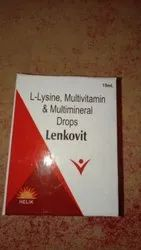 Lenkovit L Lysine Multivitamin & Multimineral Drops, 15ml, Prescription