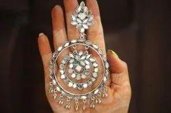 Glass Plated Design Earrings