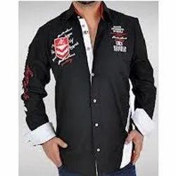 Full Sleeve Black Designer Shirt, Size: Xl